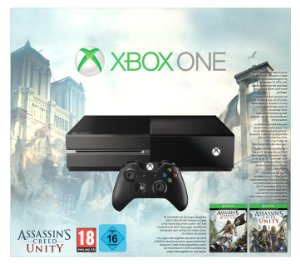 Console Xbox One + Assassin's Creed: Unity + Assassin's Creed IV : Black Flag – Jeux vidéo