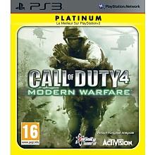Jeu Playstation 3 - Call of dury 4 Modern Warfare Call of Duty 4 : Modern Warfare vous propose un arsenal de haute technologie et vous transporte dans les endroits les plus dangereux de la planète pour affronter un ennemi qui menace le monde ! Incarnez un Marine américain ou un S.A.S. britannique et progressez dans une histoire pleine de rebondissements