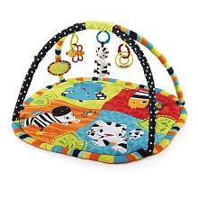 Bright Starts - Tapis d'activités - Zoo - Seulement chez Toysrus ! Un tapis d'éveil coloré permettant à Bébé de développer la vue