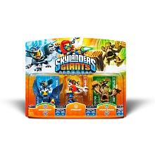 Skylanders Giants - Triple Pack (Spocket + Sonic Boom + Stump Smash) Pack de 3 figurines.Tes Skylanders préférés sont de retouret en grande forme !Découvre-les sous une toute nouvelle apparenceCaractéristiques :- Nouveau design et nouvelles attaques- Pouvoirs améliorés- Ta figurine gardera en mémoire les aventures