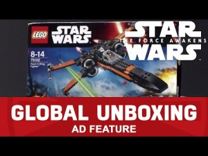 LEGO Star Wars Poe's X-Wing Fighter – Star Wars: The Force Awakens Global Toy Unboxing – YouTube