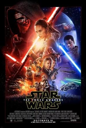 Affiche cinéma de star wars thé force awakens