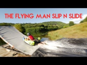 Mega Slip N Slide dans le cantal – FRANCE – YouTube
