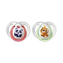 toys' r us 2 sucettes fun 0/6 mois - koala et lion