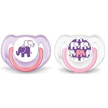 toys' r us 2 sucettes éléphant - Silicone 6-18mois- roses