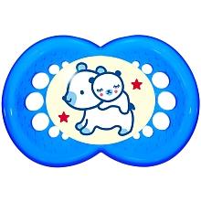 toys' r us 2 Sucettes nuit MAM 18 mois+ et boîte stérilisation - bleues