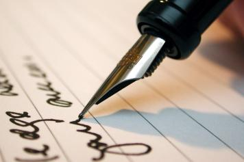 Scrittura con la penna stilografica