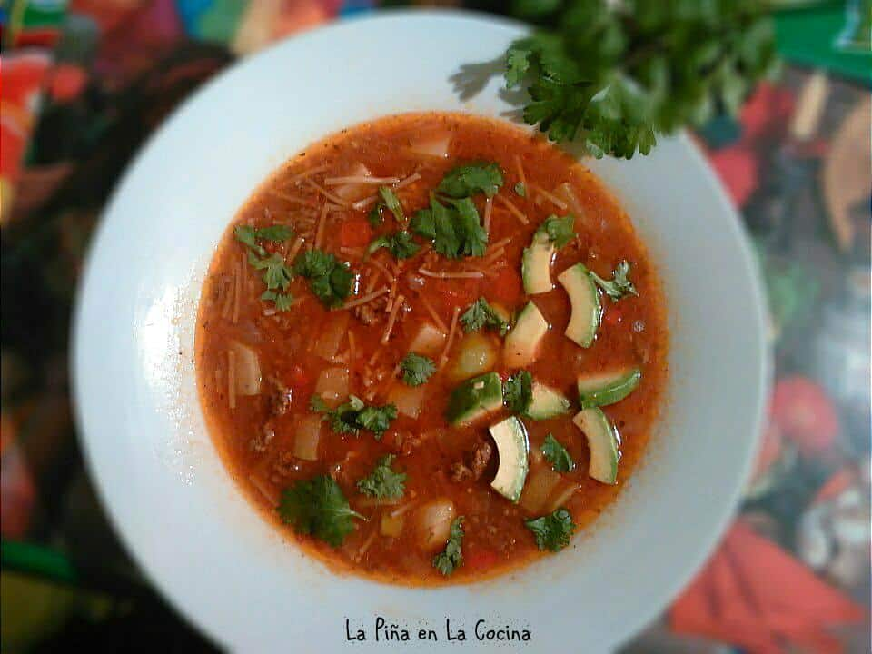 Mexican Tomato Chicken Soup