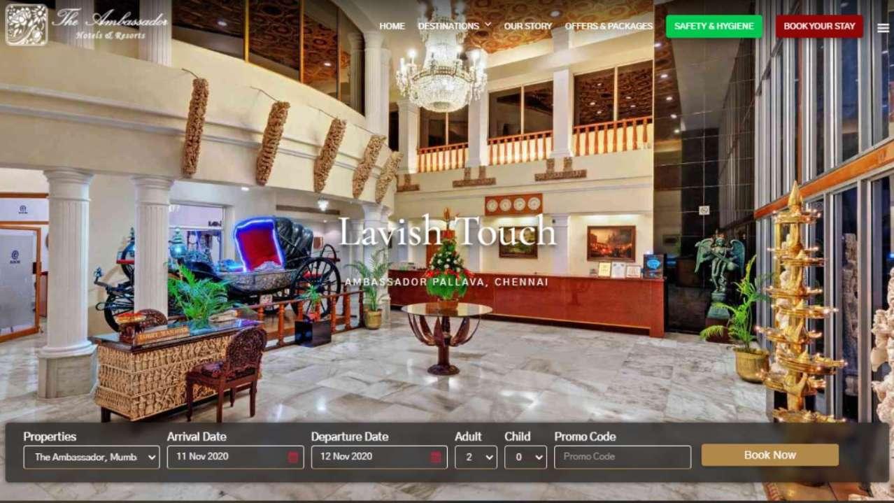 The Ambassador Hotels – Website