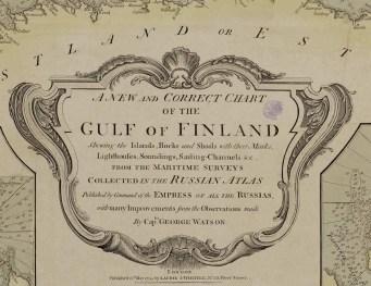 Detalle cartela Golfo de Finlandia. s. XVIII