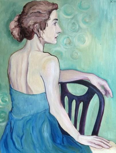 Портрет маслом на холсте, масляная живопись