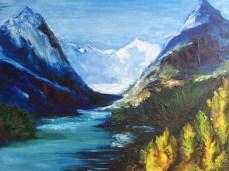 Картина маслом на холсте, масляная живопись, пейзаж