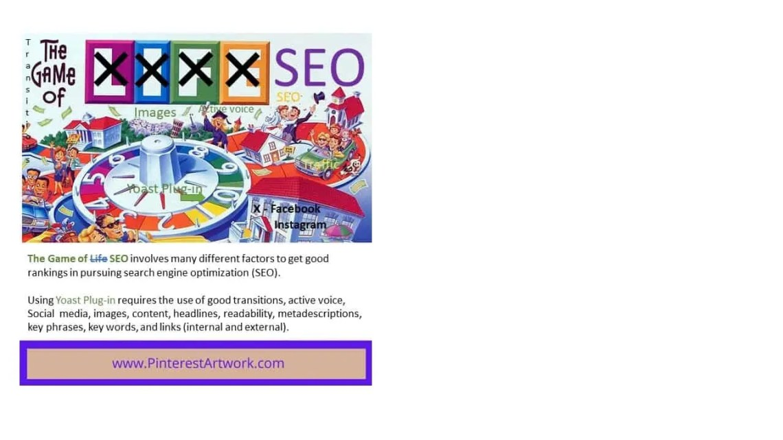 The Game of SEO involves many different factors to get good SEO rankings for Search Engine Optimization.
