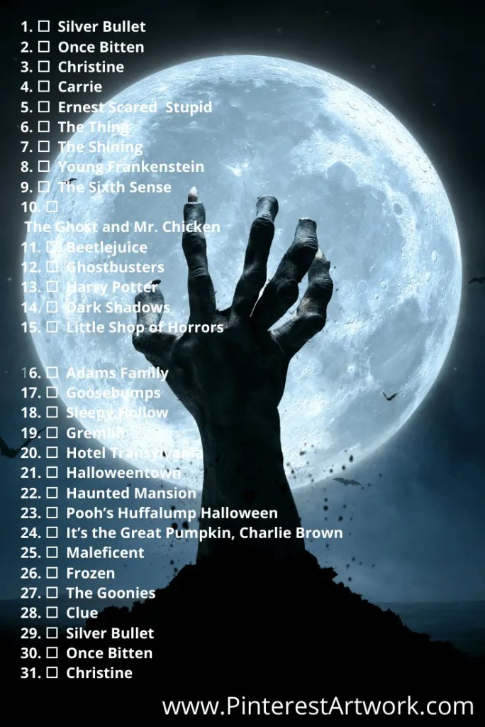 Blogtober Halloween Movie pins 5 A blog for the love of Pinterest