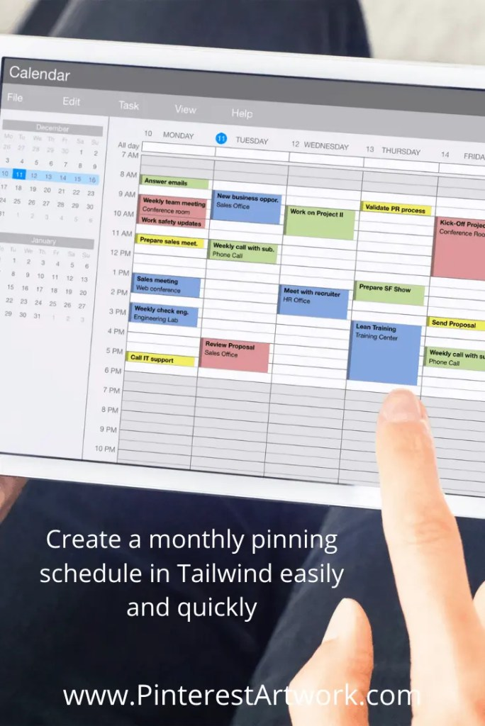 Create monthly pinning schedule TW 6 A blog for the love of Pinterest