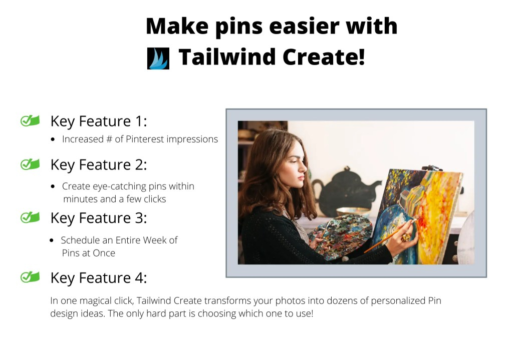 Designing beautiful pins with Tailwind Create