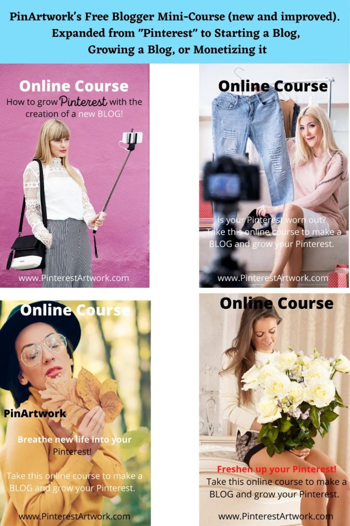 PinArtworks free blogging mini course 1 A blog for the love of Pinterest