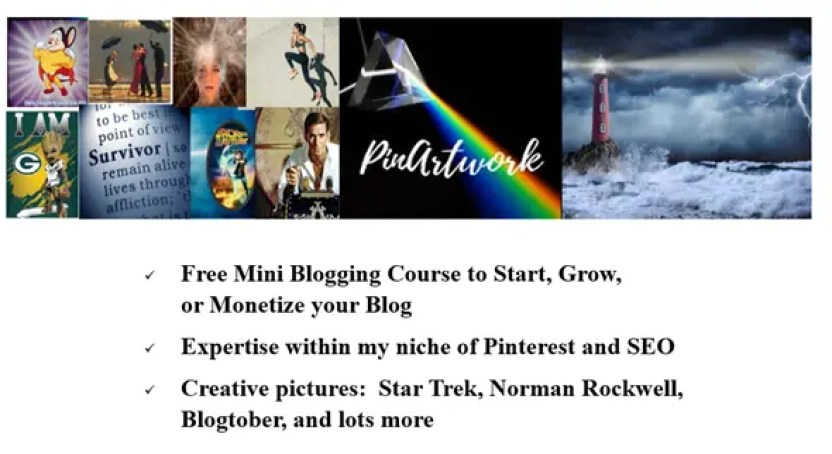 PinArtwork - a place to learn about starting, growing, or monetizing your blog and improving your SEO