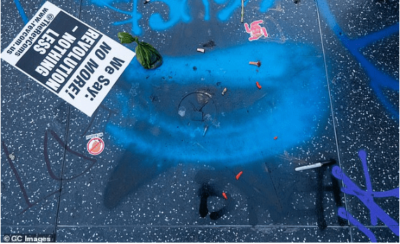 Photos: Donald Trump's Star At Hollywood Walk Of Fame Destroyed By Black Lives Matter Protesters 1