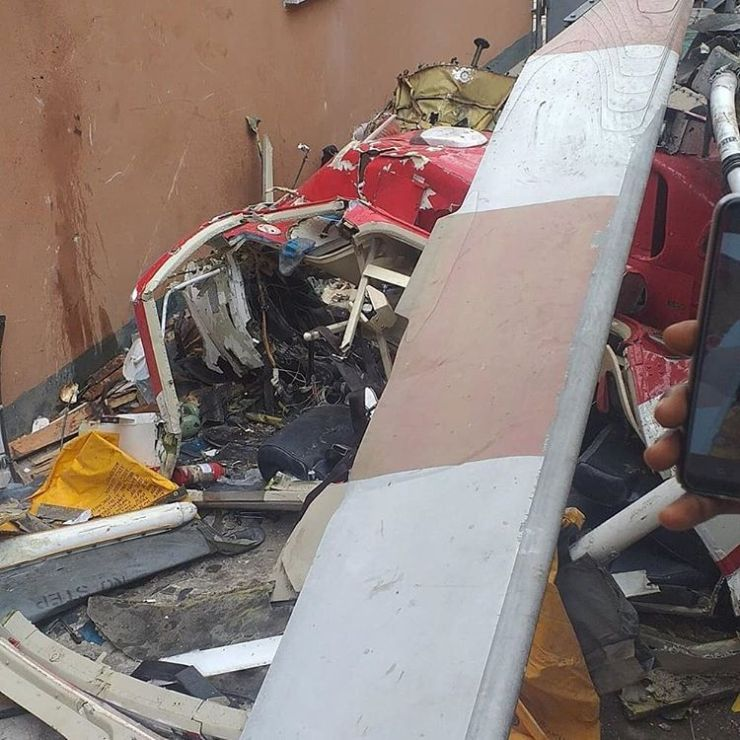 Just In: Helicopter Crashes Into A Building In Nigeria 10