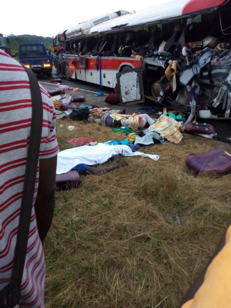 11 Dead And Over 80 Passengers Seriously Injured As Cargo Truck Crashes Into 2 Buses At Kyekyewere Whilst On Their Way To Accra (Photos) 18