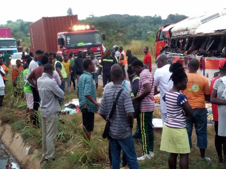 11 Dead And Over 80 Passengers Seriously Injured As Cargo Truck Crashes Into 2 Buses At Kyekyewere Whilst On Their Way To Accra (Photos) 20