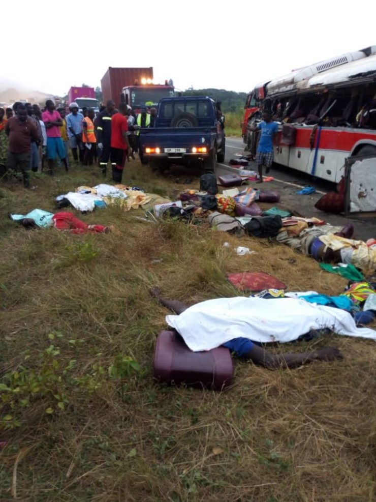 11 Dead And Over 80 Passengers Seriously Injured As Cargo Truck Crashes Into 2 Buses At Kyekyewere Whilst On Their Way To Accra (Photos) 21