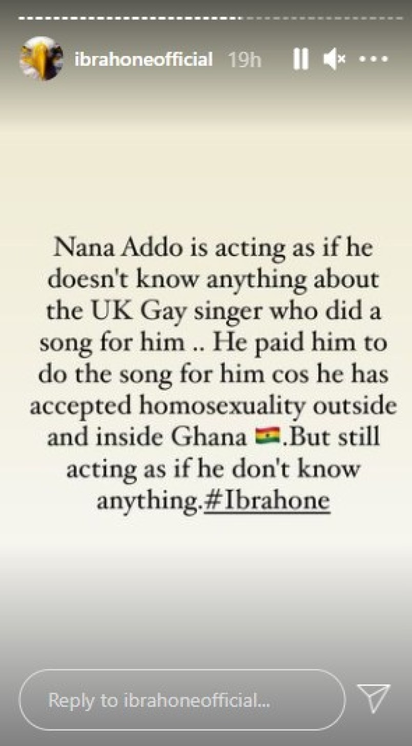 Nana Addo Paid The Gay UK Singer To Do The Song For Him-Ibrah One Reveals 2