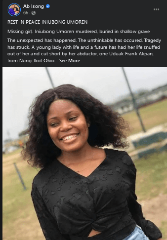 Beautiful Nigerian Lady who went out for Job Hunting found dead and Buried in a Shallow grave after she was kidnapped 3