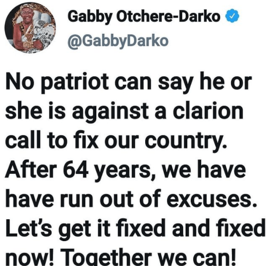 Lets Get It Fixed And Fixed Now - Gabby Otchere Darko Joins #fixthecountry Movement 2