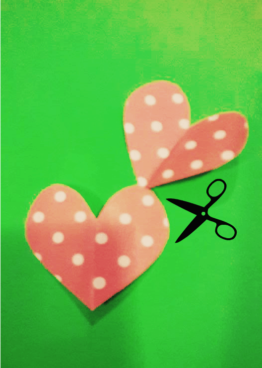 cut 1 pair of heart