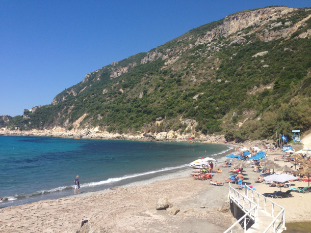 Ermones Beach in Corfu