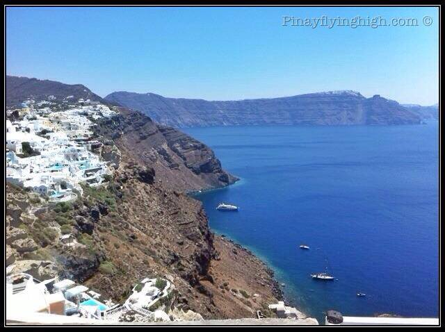 View of the sea from Oia in Santorini