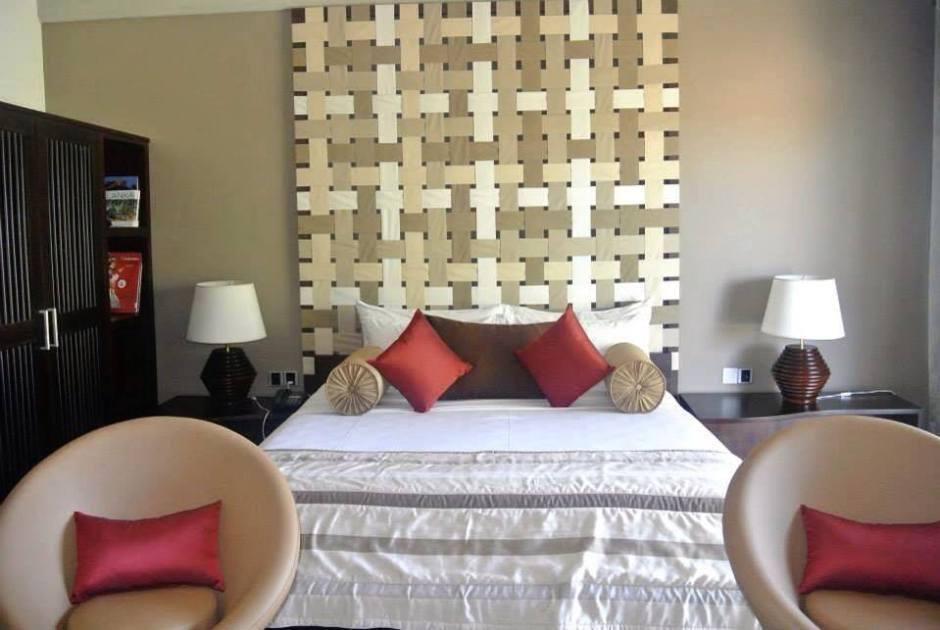 Master bedroom in the beach villa