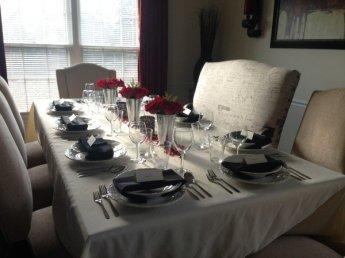 Thanksgiving Dinner Table Set-Up