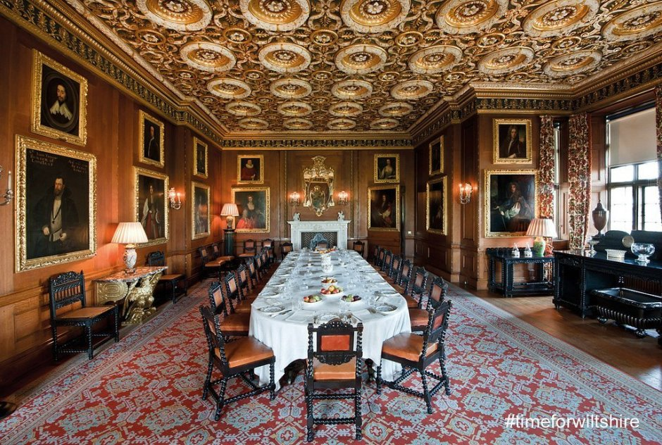 One of the grand dining rooms of Longleat House.