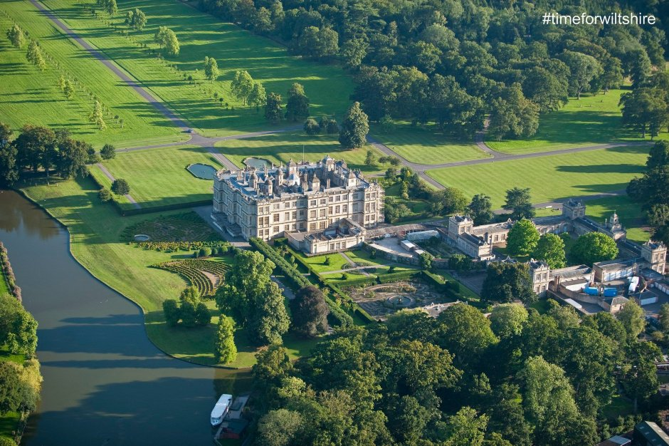 Aerial View of Longleat House