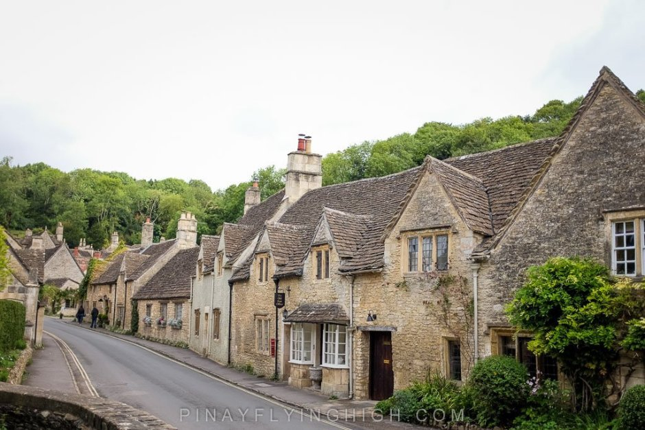 Row of houses in Castle Combe.