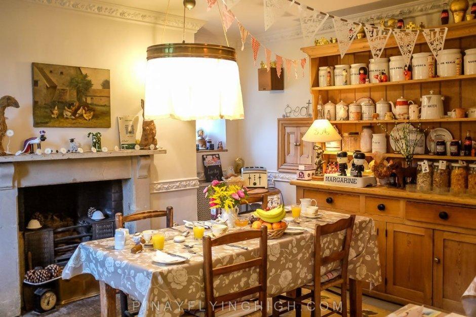 The breakfast area of Fosse Farmhouse