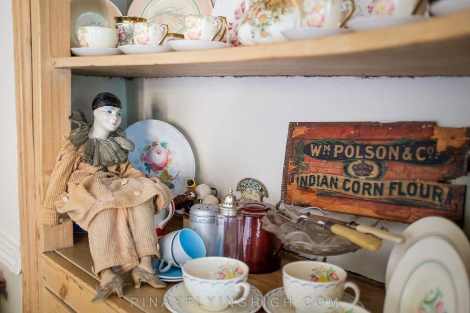 Vintage decorations in Fosse Farmhouse.