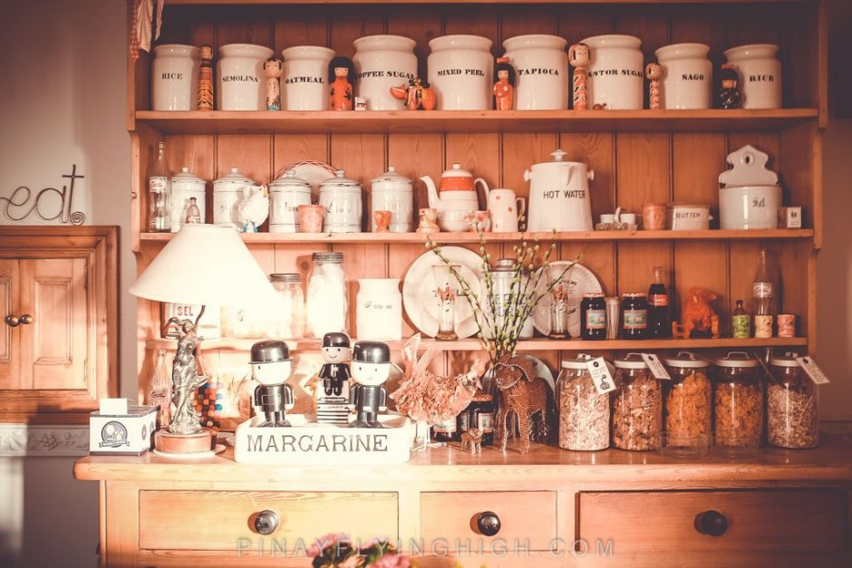 The pantry in the breakfast area of Fosse Farmhouse.