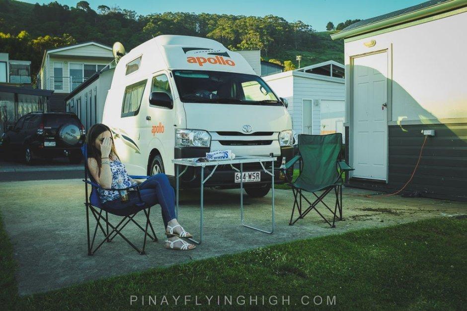 Camper van in Australia.