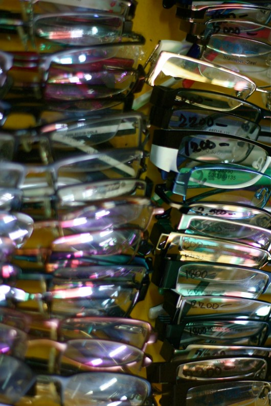Second hand eyeglasses.