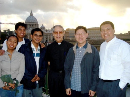 With Jesuit Father General Nicolas and Bishop Chito Tagle in Rome