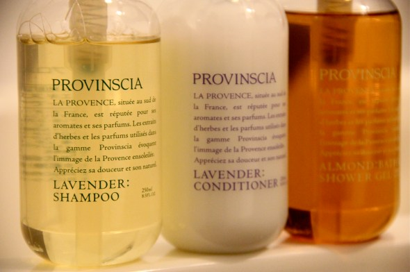 lavender shampoo, conditioner and bath gel