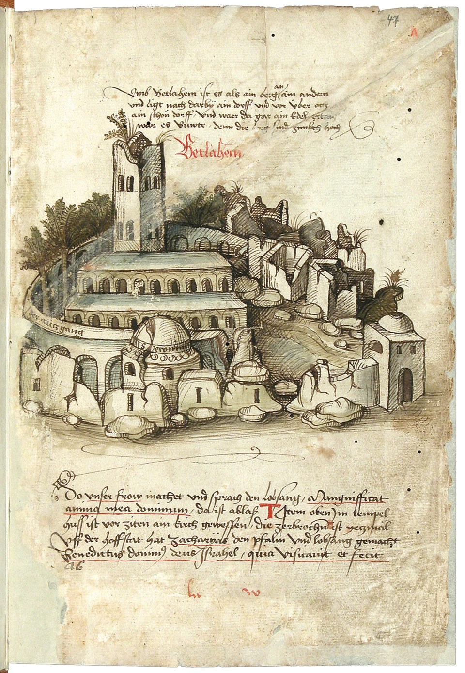 Bethlehem as depicted by Konrad von Grünenberg in 1487