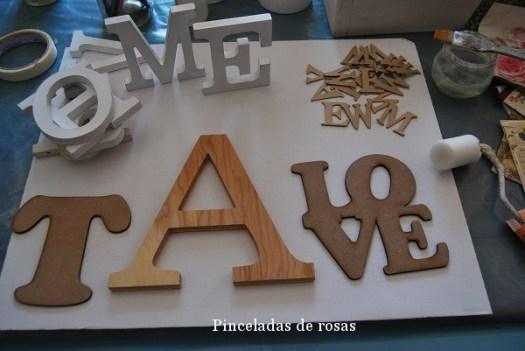 Hoy he llenado mi mesa de letras!!!