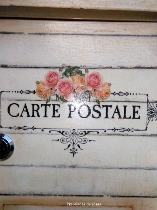 Buz n de aire retro vintage total pinceladas de rosas - Buzon vintage ...