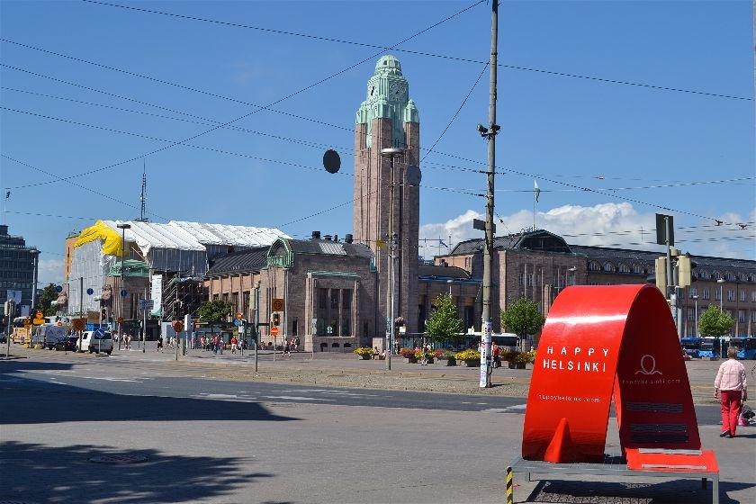 Estacion Tren Rautatientori, Helsinki, Finlandia