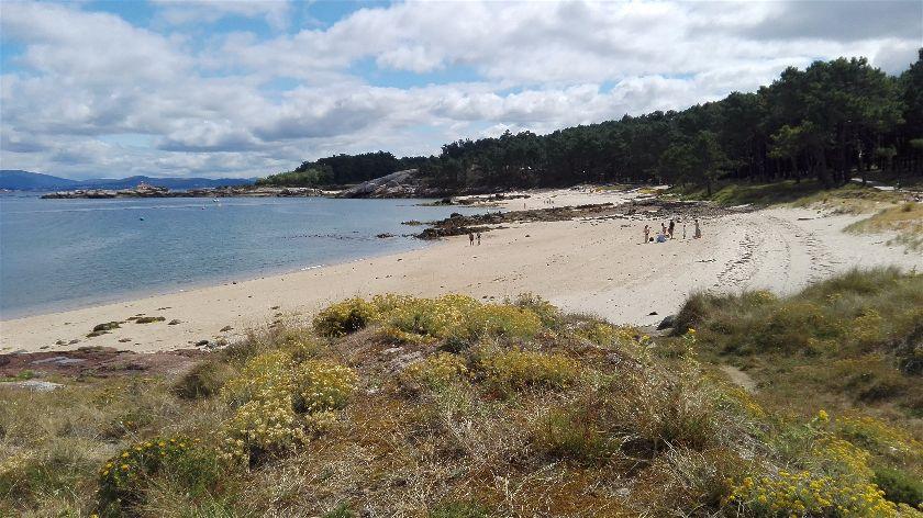 Playa Area da Secada, Illa da Arousa, Pontevedra, España